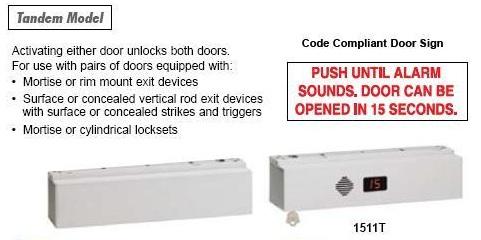 Sdc 1511t Exit Check Delayed Egress Double Door 1650lb