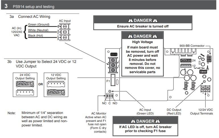 von duprin, ps914 base power supply 4-amp 16-amp inrush: maglocks  maglocks