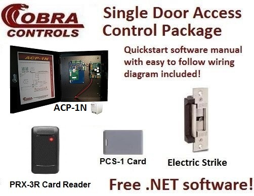 Cobra Controls ACP-1N 1-door Computer Access Control KIT: maglocks