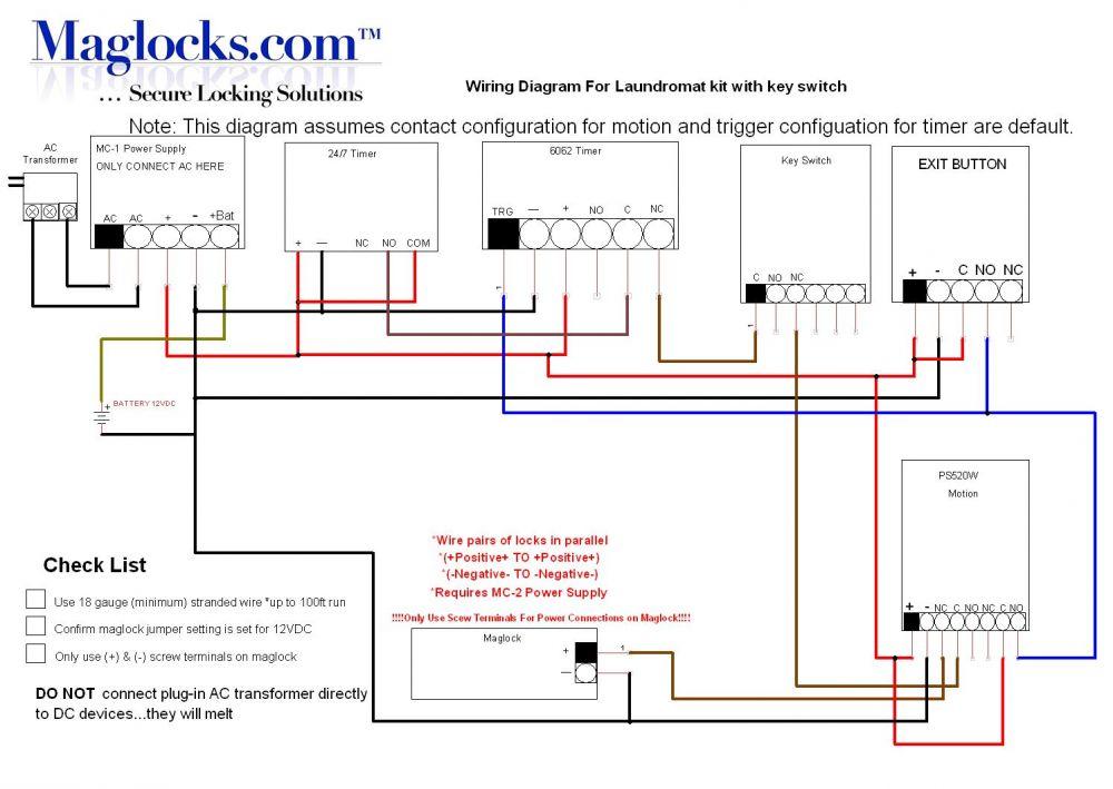 Astonishing Laundromat Magnetic Lock Door Kit With Programmable Timer Maglocks Wiring Database Obenzyuccorg