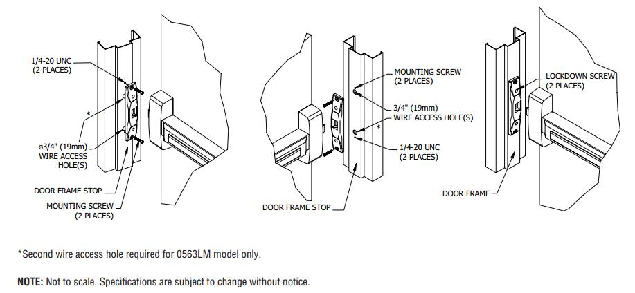 ga  door electric strike kit  rim mount push bars  maglocks